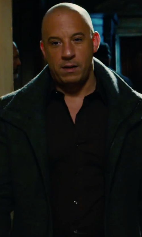 Vin Diesel with Dsquared2 Stretch Poplin Button Up Shirt in The Last Witch Hunter