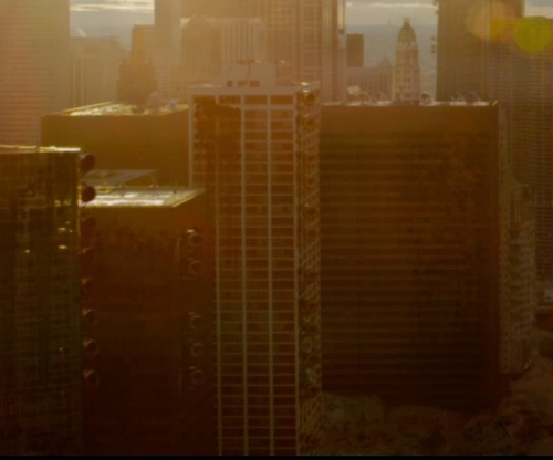 Unknown Actor with Columbus Plaza Chicago, Illinois in The Divergent Series: Insurgent