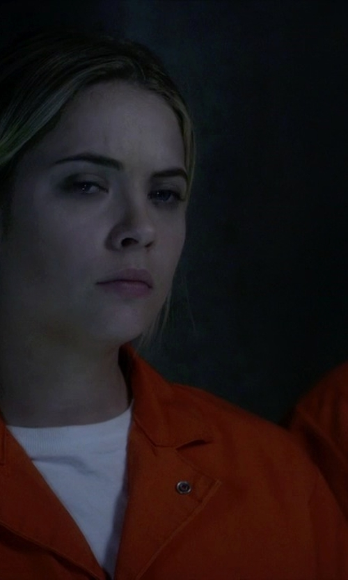 Ashley Benson with PX:Direct Inmate Jumpsuit in Pretty Little Liars