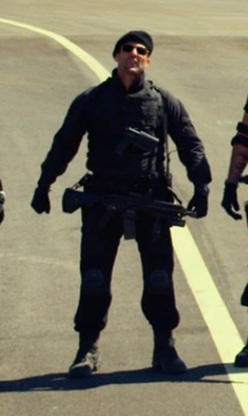 Jason Statham with Protech TAC 6 PLUS HP Full Coverage in The Expendables 3