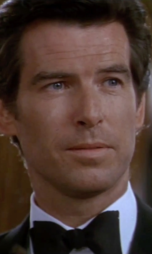Pierce Brosnan with Turnbull & Asser Sea Island Cotton Tuxedo Shirt in GoldenEye