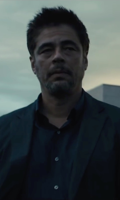 Benicio Del Toro with Acne Studios 'Jared' Blazer in Sicario