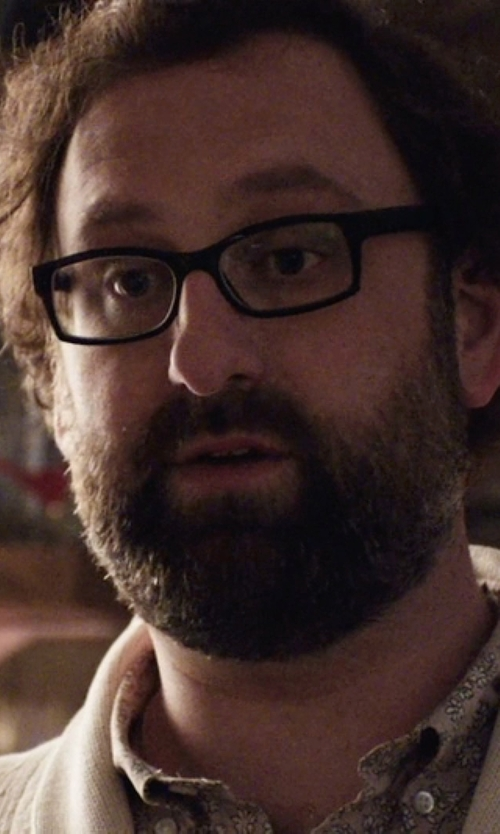 Eric Wareheim with Ben Sherman Multi Colour Paisley Woven Shirt in Master of None