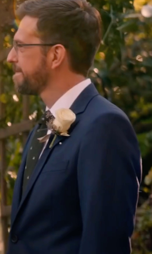 Ed Helms with Polo Ralph Lauren Polo Wool Twill Suit in Bastards