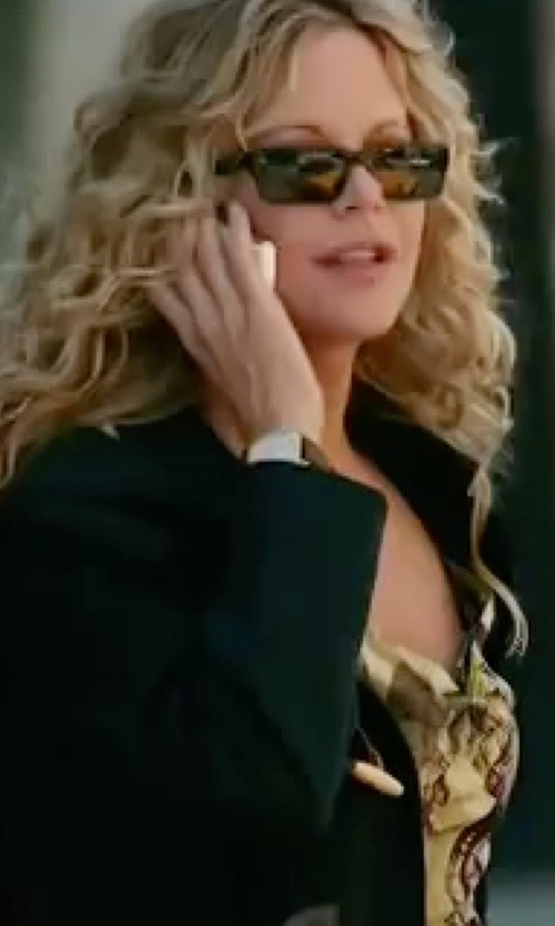 Meg Ryan with Gucci Rectangle Polarized Sunglasses in The Women