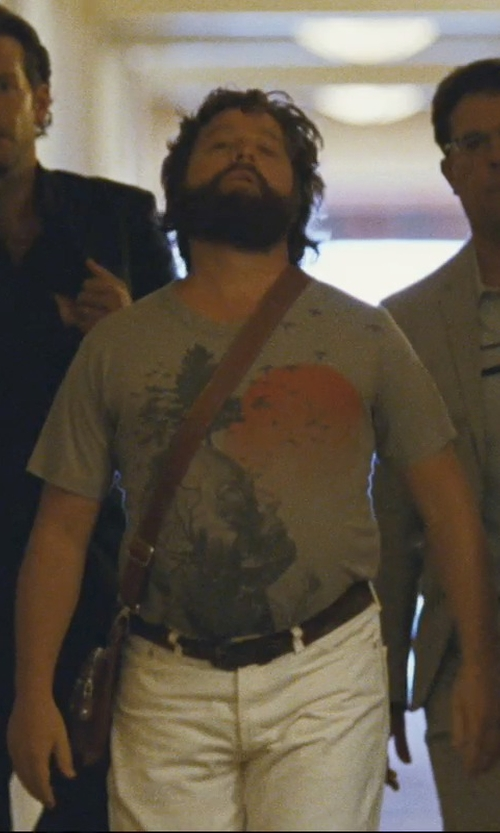 Zach Galifianakis with Fossil Estate East West Messenger Bag in The Hangover