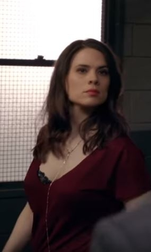 Hayley Atwell with Lana Jewelry 'Nude' Y-Necklace in Conviction