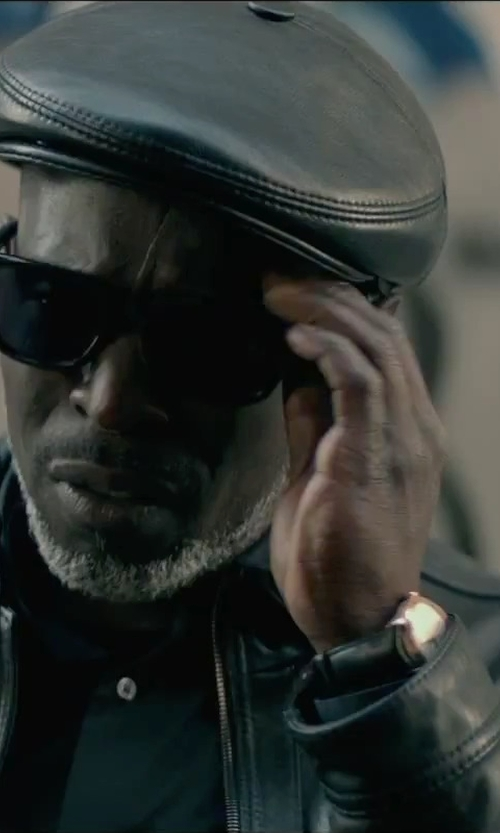 Michael Kenneth Williams with Borsalino Doria Leather Ivy Cap in The Gambler