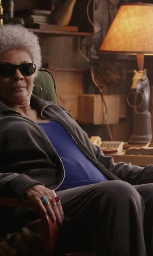 Leslie Uggams with Lavish By Tjm Gold Over Silver & Sterling Silver Agate Ring in Deadpool