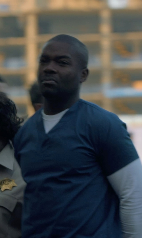 David Oyelowo with Carhartt Men's Ripstop Multi-Pocket Scrub Top in Captive