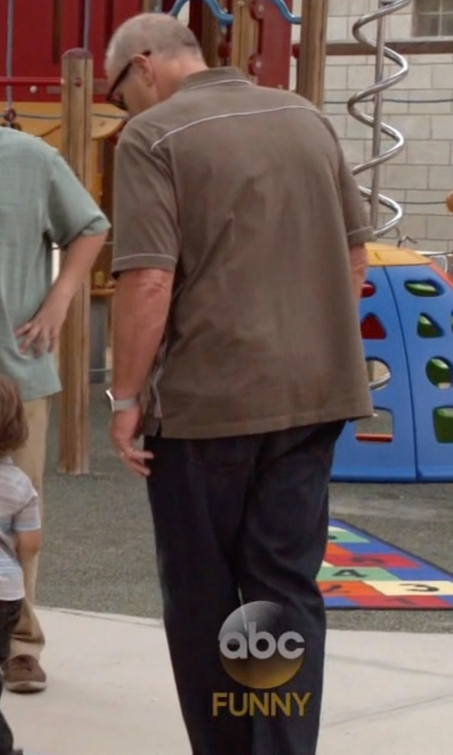 Ed O'Neill with Obey Straight Leg Denim Pants in Modern Family