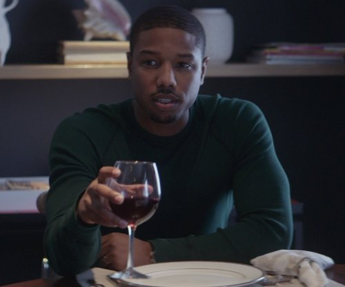 Michael B. Jordan with Waterford Gris/Grigio Pair Wine Glass in That Awkward Moment