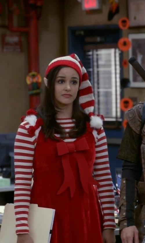 Melissa Fumero with California Costumes Santa's Helper Costume in Brooklyn Nine-Nine