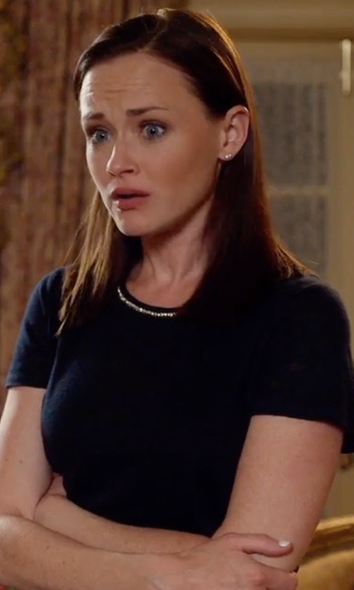 Alexis Bledel with Maje Tamano Embellished Tee in Gilmore Girls: A Year in the Life