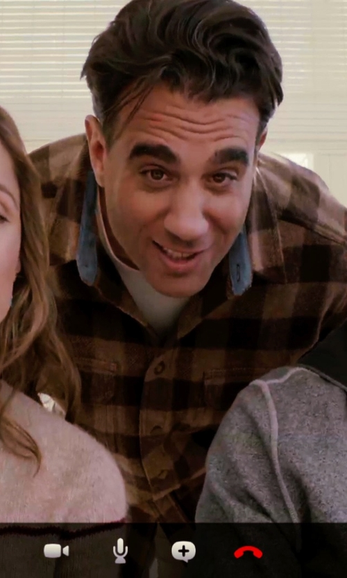 Bobby Cannavale with Mason's Brushed Cotton Large Multi-Plaid Sport Shirt in Adult Beginners