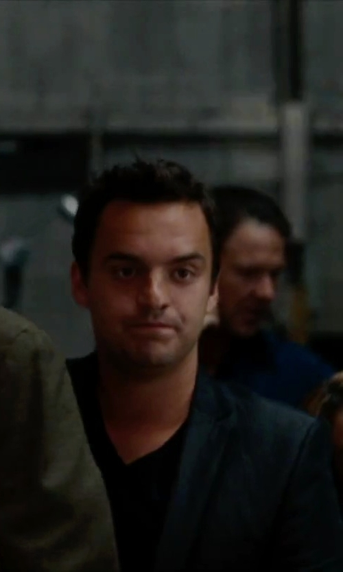 Jake Johnson with Theory Koree V-Neck T-Shirt in No Strings Attached