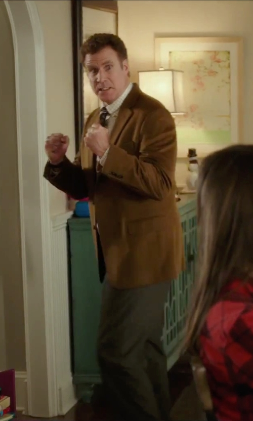 Will Ferrell with Van Heusen Night Open Check Dress Shirt in Daddy's Home