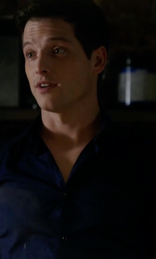 Sam Cassidy with Tom Ford Classic Solid Dress Shirt in Guilt