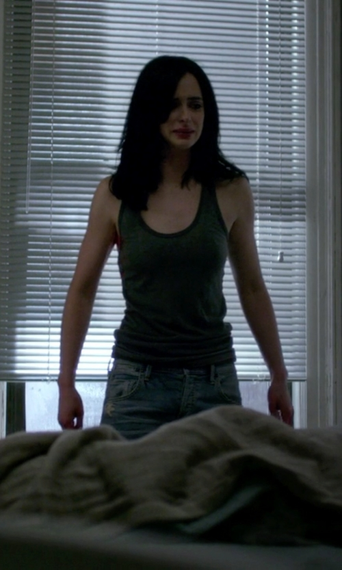Krysten Ritter with T by Alexander Wang Racerback Tank Top in Jessica Jones