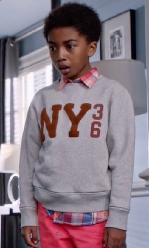 Miles Brown with Tommy Hilfiger Printed Sweater in Black-ish