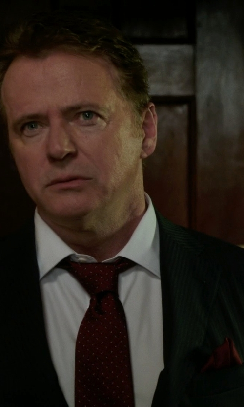 Aidan Quinn with John Varvatos 2 Button Notch Lapel Suit in Elementary
