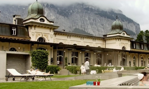 Michael Caine with Waldhaus Flims Mountain Resort & Spa Flims, Switzerland in Youth