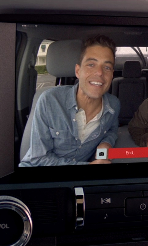 Rami Malek with Jack Spade Double-Faced Chambray Shirt in Need for Speed