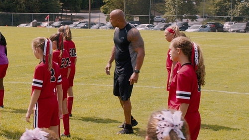 Dwayne Johnson with Under Armour Curry 3 ASW Shoes in The Fate of the Furious