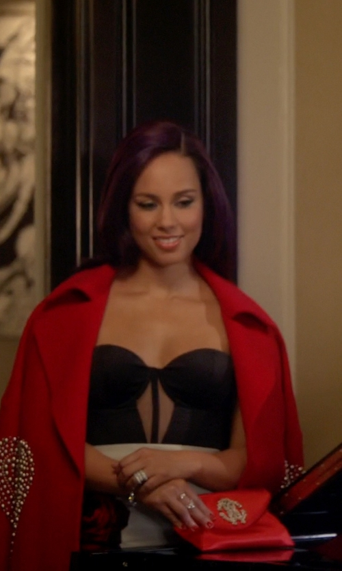 Alicia Keys with Jaggar Poison Ivy Bustier in Empire