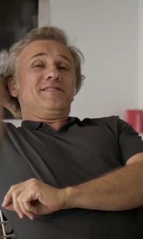 Christoph Waltz with Boss 'Pressler' Regular Fit Polo Shirt in Downsizing
