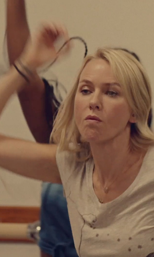 Naomi Watts with John Hardy Classic Chain Cord Bracelet in While We're Young