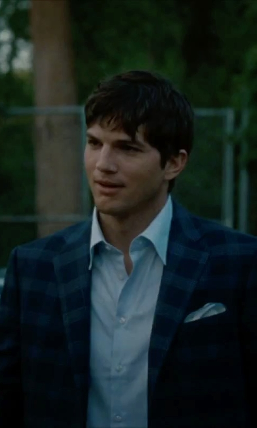 Ashton Kutcher with Charvet	 Solid Poplin Dress Shirt in No Strings Attached