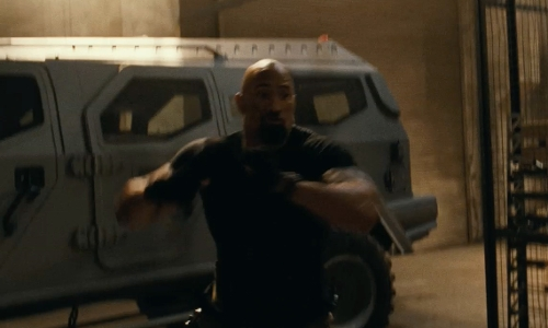 Dwayne Johnson with Terradyne Armored Vehicles Inc. Gurkha LAPV Armored Truck in Fast Five