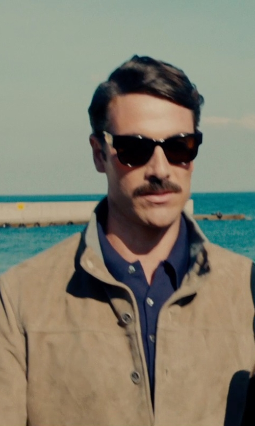 Luca Calvani with Massimo Rebecchi Jacobs Jacket in The Man from U.N.C.L.E.