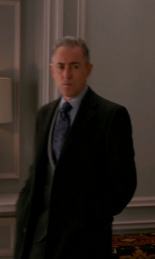 Alan Cumming with Sandro Wool-Blend Overcoat in The Good Wife