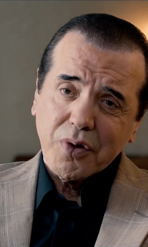 Chazz Palminteri with Hart Schaffner Marx Classic Fit Plaid Wool Sport Coat in Legend