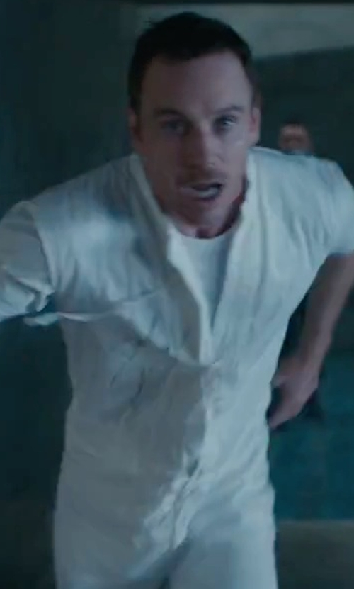 Michael Fassbender with Red Kap Speedsuit in Assassin's Creed