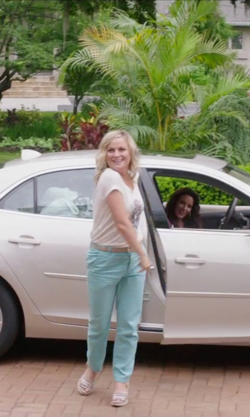 Amy Poehler with Annarita N. Tapered Leg Casual Pants in Sisters