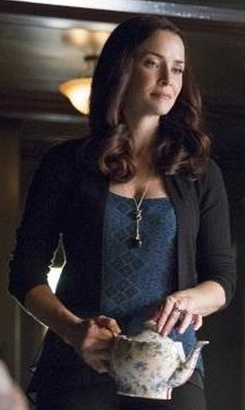 Annie Wersching with BCBGmaxazria Caralyn Print Tank in The Vampire Diaries