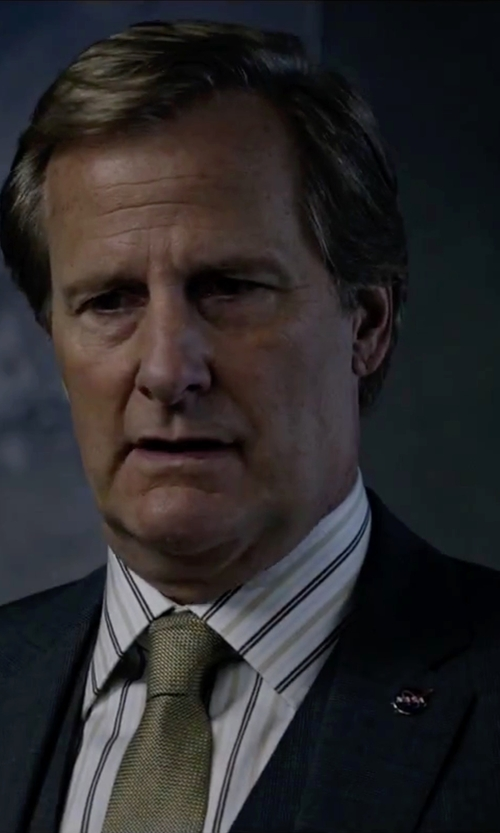 Jeff Daniels with Dolce & Gabbana Striped Placket Dress Shirt in The Martian