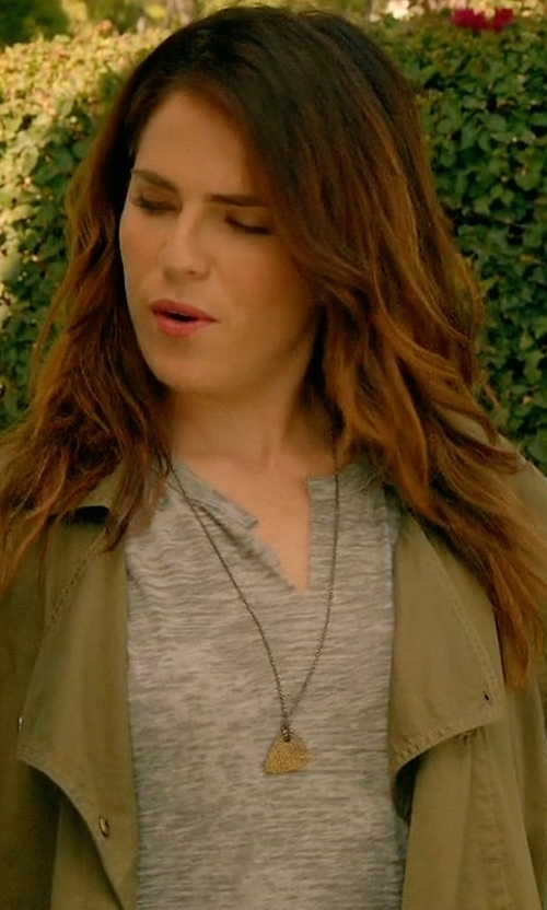Karla Souza with Current/Elliott 'The Infantry' Army Jacket in How To Get Away With Murder