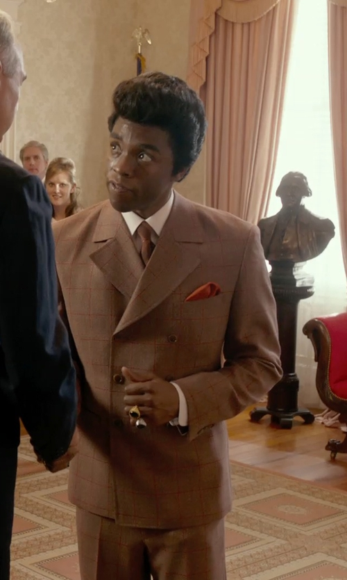Chadwick Boseman with John W. Nordstrom Pocket Square in Get On Up