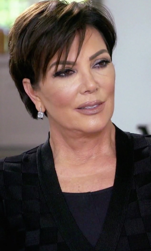 Kris Jenner with Marc Jacobs Sequin Checkered Cardigan in Keeping Up With The Kardashians