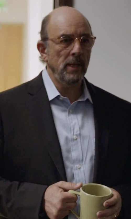 Richard Schiff with Eton Solid Fine-Twill Dress Shirt in Ballers