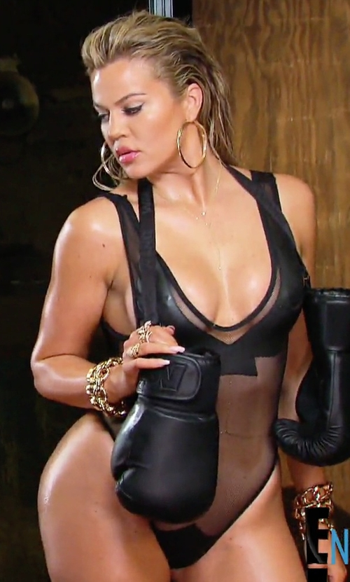 Khloe Kardashian with Minimale Animale The Firebird Mesh Swimsuit in Keeping Up With The Kardashians