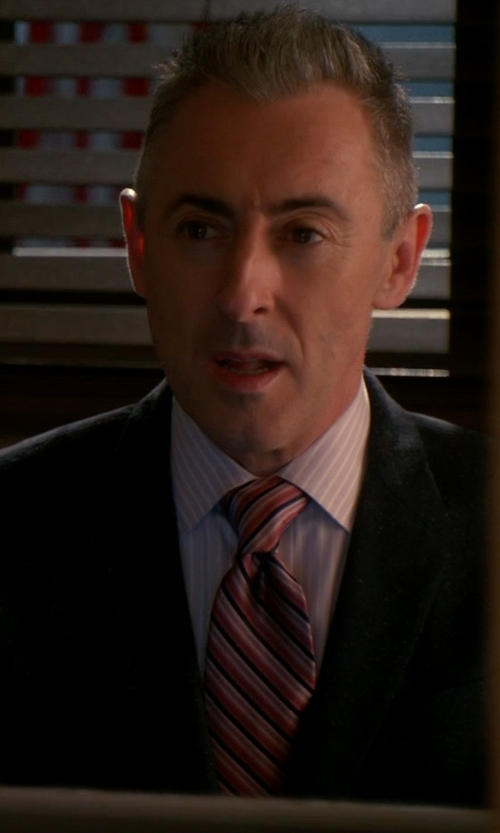 Alan Cumming with Ted Baker London Candy Stripes Silk Tie in The Good Wife