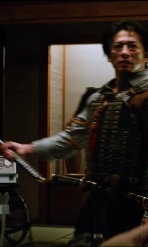 Hiroyuki Sanada with Cold Steel Katana in The Wolverine