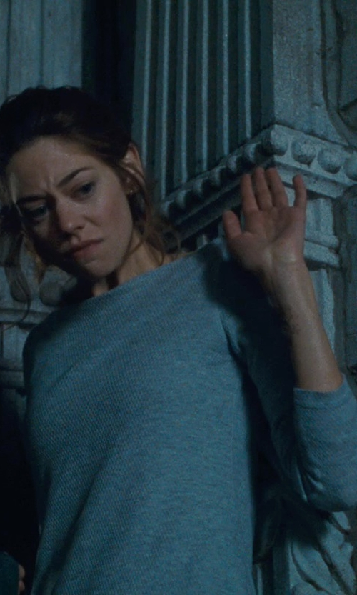 Analeigh Tipton with Vince Basic Long Sleeve Tee in Warm Bodies