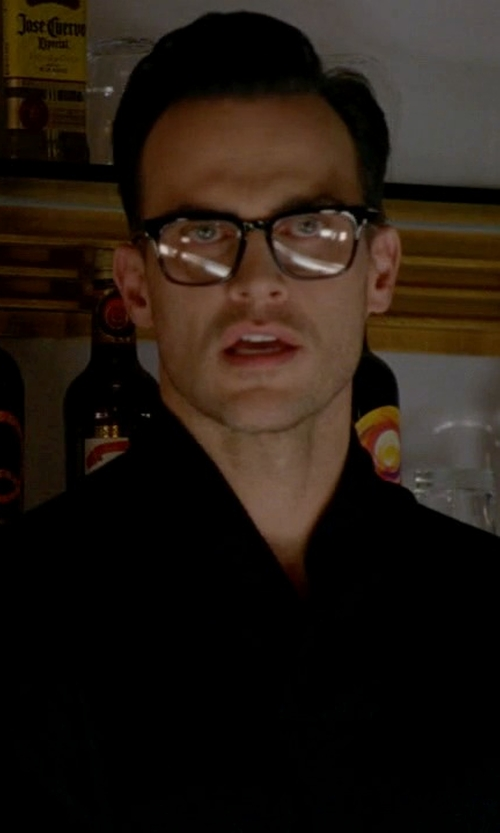 Cheyenne Jackson with Tom Ford Non-Polarized Eyeglasses in American Horror Story