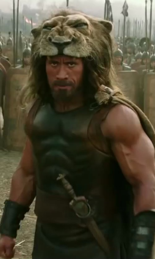 Dwayne Johnson with Weta Workshop Custom Made Hercules Knife (Hercules) in Hercules